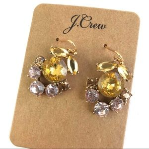 Jcrew floral statement earrings